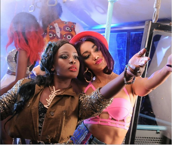 """Friends: Nyanda and Leila Kayondo shooting the music video for their hit song """"Kikute"""""""